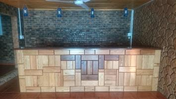 Solid Oak wood Bar