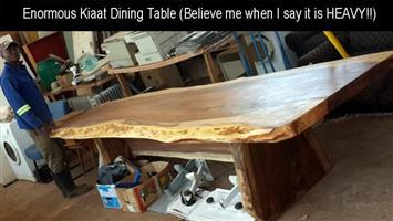 Enormous kiaat dining table for sale