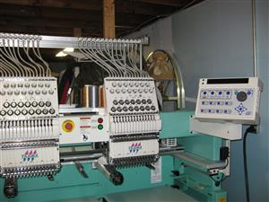 15 needles, 2 head industrial embroidery machine + Accessories and software