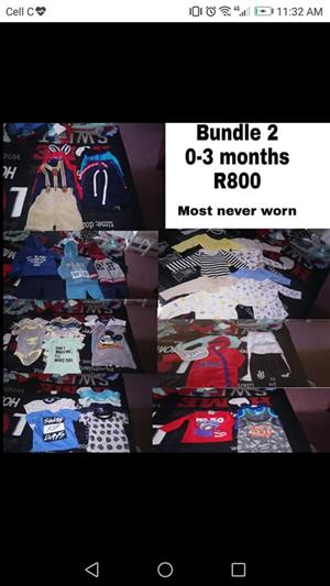 Baby boy 0-3months clothes.