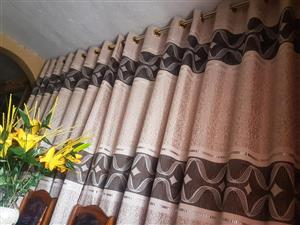 Beige and brown sequence curtains for sale