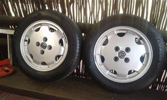 Vw CTI MAGS ONLY TWO OFF.NO TYRES