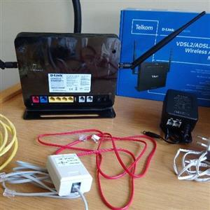 New Telkom D-Link Fibre Ready Wireless AC-1200 4-Port Modem Router.