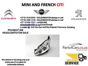 Peugeot 208 Headlights for sale
