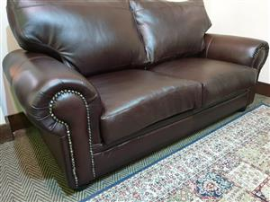 Exotic 100% genuine full leather 3 Seater WAS R 20495 NOW R 14995