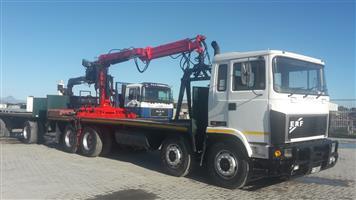 ERF crane truck