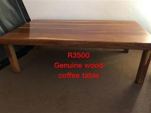 Genuine wooden coffee table