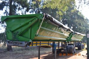 34ton side tipper trailer to rent