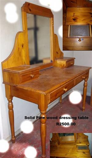 Solid pine wooden dressing table