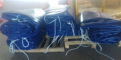 TOP QUALITY PVC TRUCK COVERS/TARPAULINS AND CARGO NETS FOR SUPERLINK AND TRI-AXLE