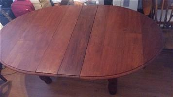 Solid wood oval table