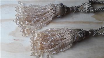 2 Beautiful Large Luxury Tassel Curtain Tiebacks