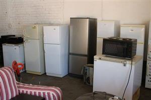 Various fridges with freezers