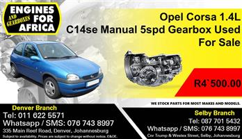 Opel Corsa 1.4L C14se Manual 5spd Gearbox Used For Sale.