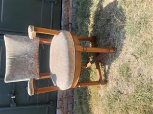 Swivel antique chair