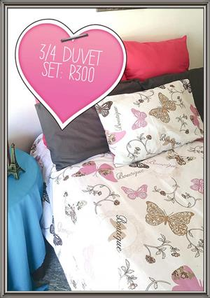 3/4 Butterfly duvet set