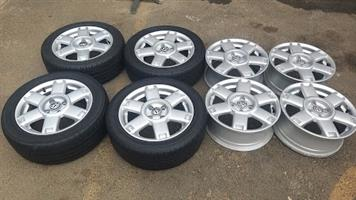15 Inch OEM VW Velociti / Rox rms with and without tyres