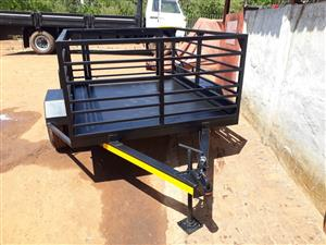 utility trailer with railings