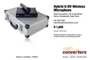 Hybrid U-DV Wireless Microphone