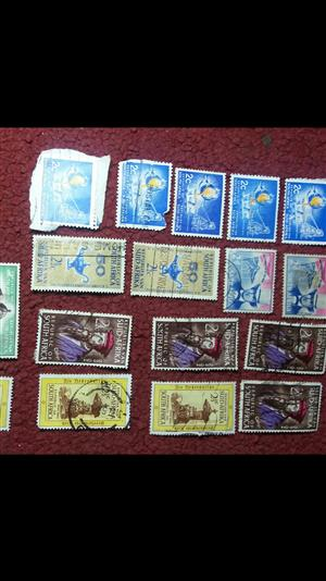 Old and collectable postage stamps.