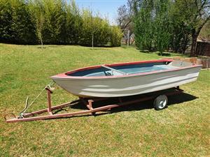 Small fibreglass boat