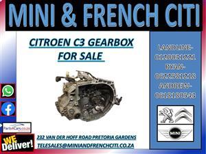 CITROEN C3 GEARBOX FOR SALE