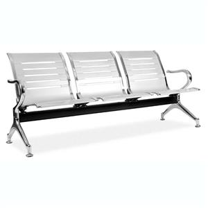 Public Seating Silver or Black - 3 Seater | Office Stock