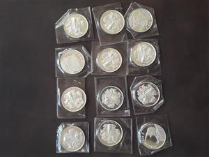 silver bullion coins , courier included