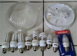 Light bulbs with new light fitting.