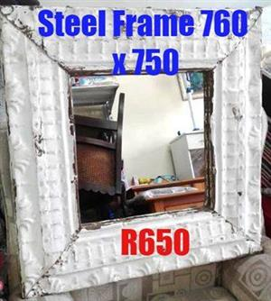 Steel frame mirror (760x750) for sale