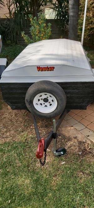 Venter Trailer 5ft with spare, rear hatch and jockey wheel
