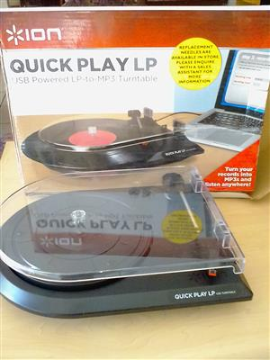 USB Powered LP-to-MP3 turntable