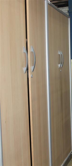 S034309B Brown 2 door wardrobe #Rosettenvillepawnshop
