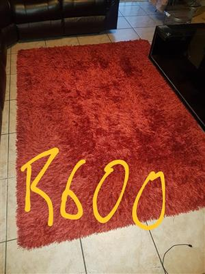 Red fur carpet for sale