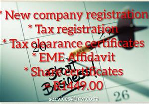 COMPANY REGISTRATIONS IN 48 HOURS FOR ONLY R504