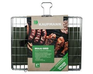 Braai Grid Adjustable Chrome Plated Box Kaufmann - Medium