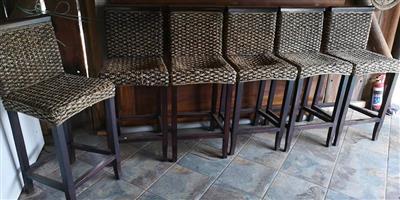 6 Bar stoele te koop