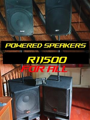 Powered speakers