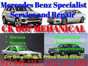 Mercedes Benz service and repair Specialist available.