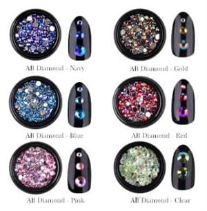 Various colored nail diamonds