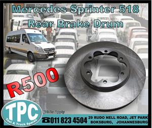 Mercedes Sprinter 518 Rear Brake Drum - New - New And Used Quality Replacement Taxi Spare parts.
