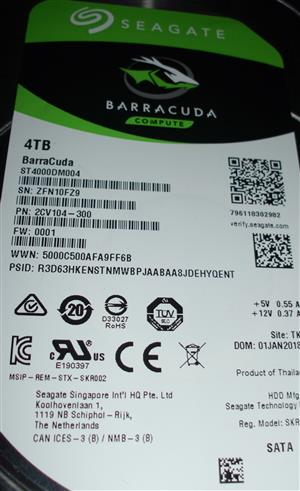 I am looking for  Seagate 4TB hard disk with PCB 100800538