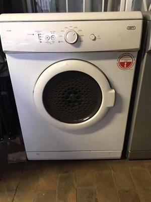 Defy white tumble dryer.