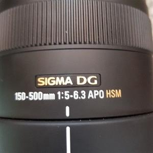 Sigma 150-500 mm lens