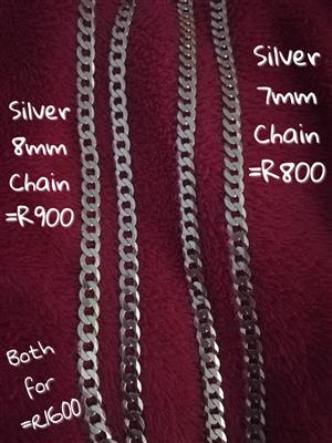 Silver Chains for sale both for R1600