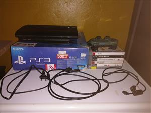 """""""PS 3 Slim 500 GB Console + 1 Remote + 3 Games"""" > Alberton, JHB"""