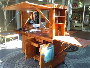Outdoor mobile kitchen.........as good as outdoor