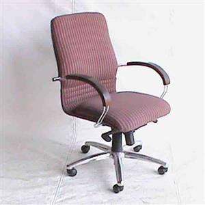 Medium back office fabric chair Striped