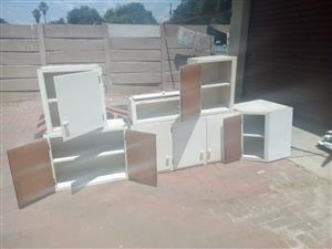Second hand strong wood kitchen cupboards for sale