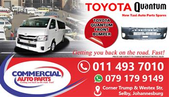 Front Bumper For Toyota Quantum Sesfikile For Sale.